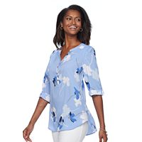 Women's Croft & Barrow® Printed Crepe Woven Top