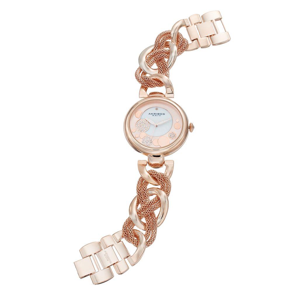 Akribos XXIV Women's Ornate Crystal Watch