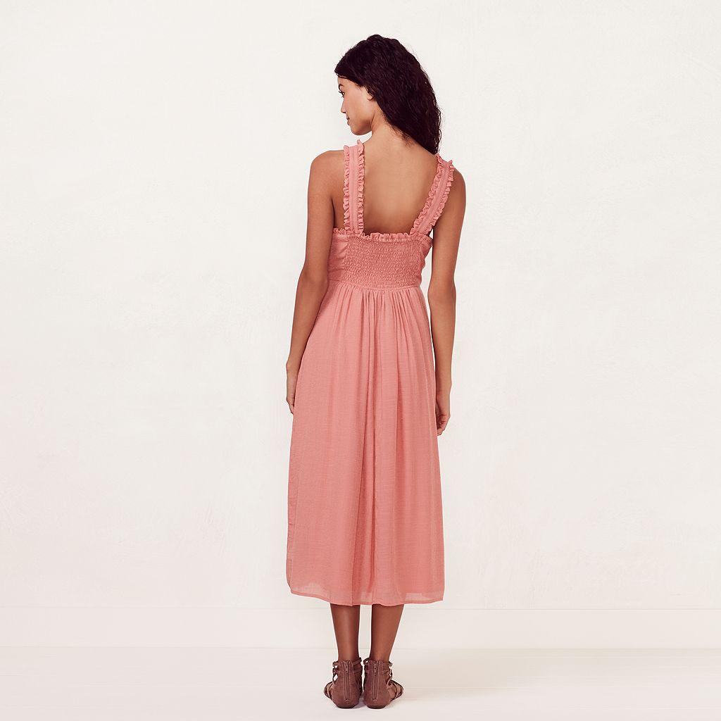 Women's LC Lauren Conrad Ruffle Twist Halter Midi Dress
