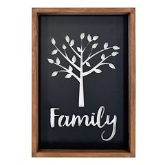 New View Family Tree Cut-Out Framed Wall Art