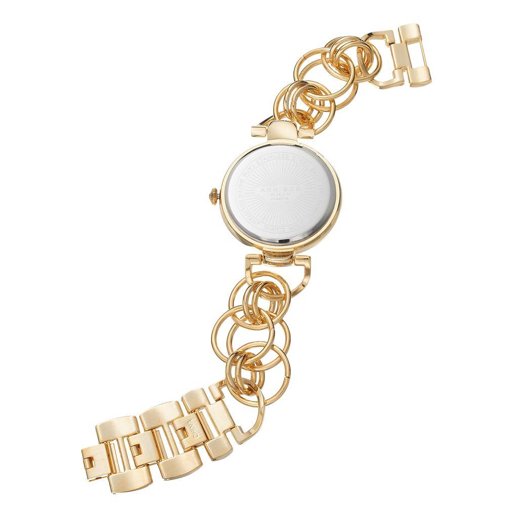 Akribos XXIV Women's Empire Diamond Floral Watch
