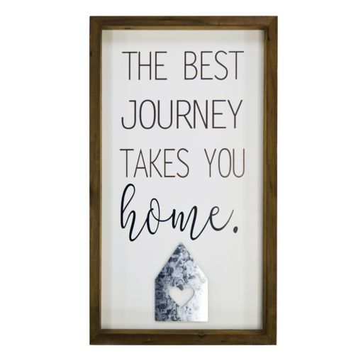 """New View """"The Best Journey Takes You Home"""" Framed Wall Art"""