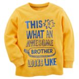 "Toddler Boy Carter's ""Awesome Brother"" Thermal Tee"