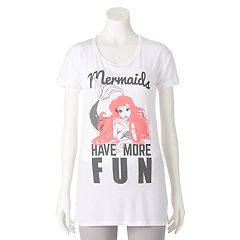 Disney's The Little Mermaid Ariel Juniors' 'Mermaids Have More Fun' Graphic Tee
