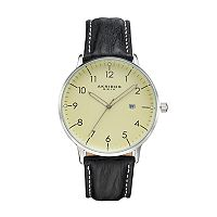 Akribos XXIV Men's Element Leather Swiss Watch