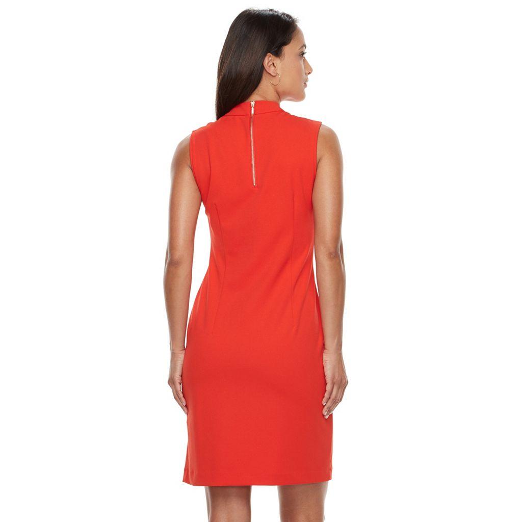 Women's Sharagano Sleeveless Crepe Sheath Dress