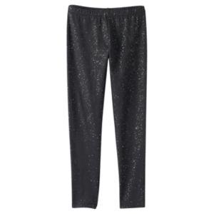 Girls 7-16 SO® Black Allover Glitter Leggings