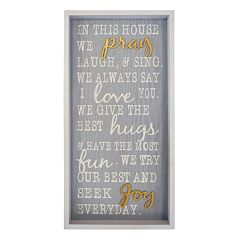 New View 'In This House We Pray' Framed Wall Art