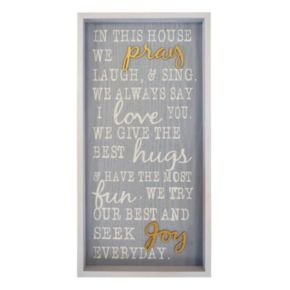 """New View """"In This House We Pray"""" Framed Wall Art"""