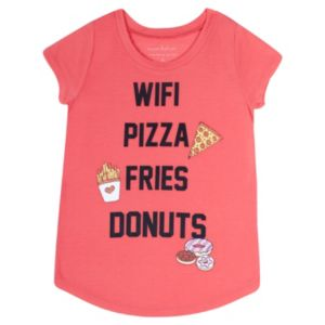 Girls Plus Size Harper & Elliott Rounded-Hem Food Graphic Tee