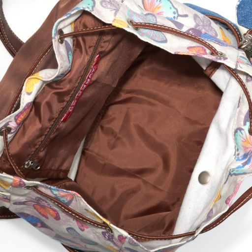 Unionbay Denim Butterfly Print Backpack with Pouch