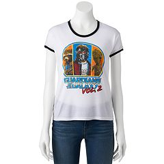 Juniors' Marvel Guardians of the Galaxy Vol. 2 Ringer Graphic Tee