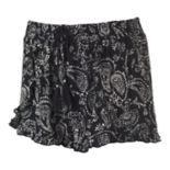 Juniors' Mudd® Print Tulip Hem Soft Shorts