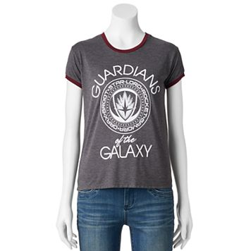 Juniors' Marvel Guardians of the Galaxy Ringer Graphic Tee