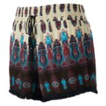 Juniors' Mudd® Print Tassel Hem Soft Shorts