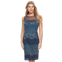 Women's Scarlett Illusion Lace Sheath Dress