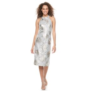 Women's Scarlett Metallic Sheath Dress