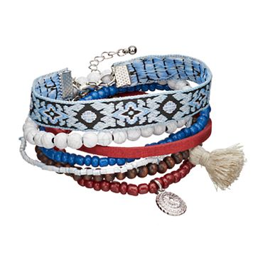 Mudd® Beaded & Embroidered Bracelet Set