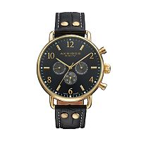 Akribos XXIV Men's Leather Swiss Watch