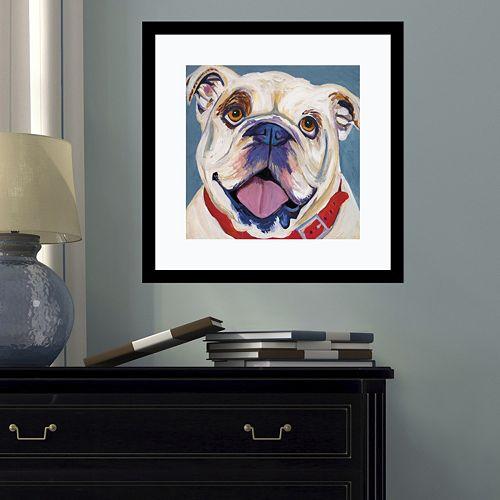 Amanti Art Bulldog Framed Wall Art