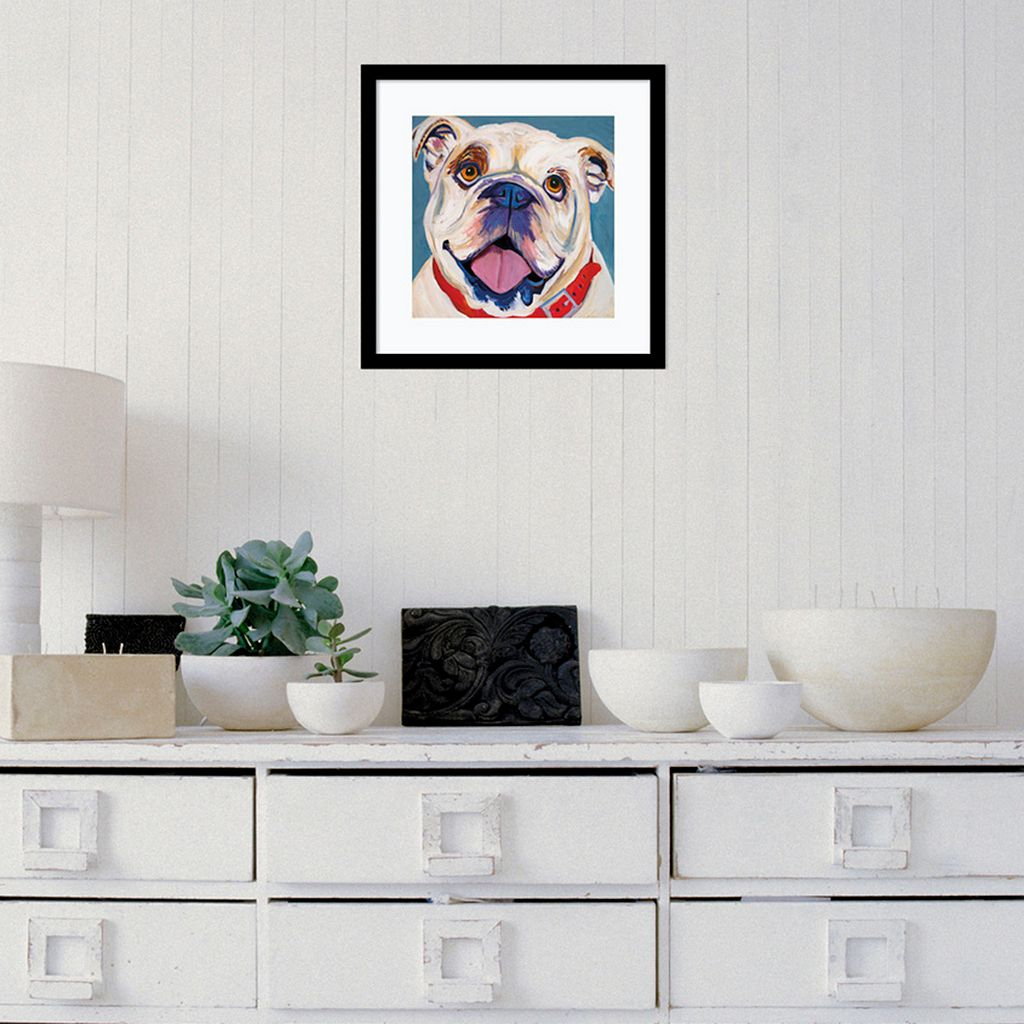 Amanti Art Bulldog Framed Wall Art