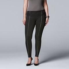 Women's Simply Vera Vera Wang Piped Seam Ponte Leggings