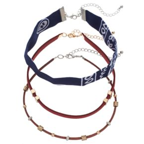 Mudd® Bandana & Faux Suede Choker Necklace Set