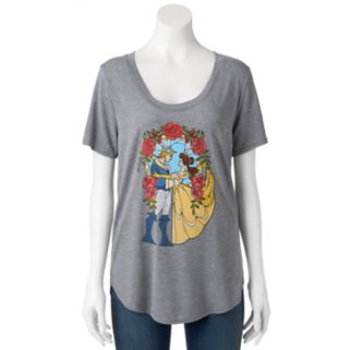 Disney's Beauty and the Beast Juniors' Stained Glass Graphic Tee