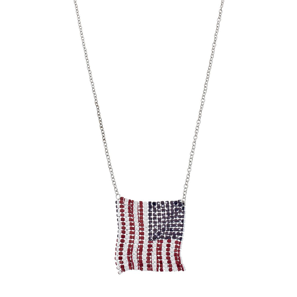 Mudd® Long American Flag Necklace
