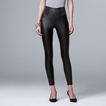 b3b59e0d64c91 Women's Simply Vera Vera Wang Faux Leather Leggings
