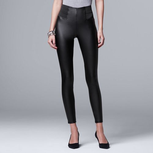 men/man closer at buy best Simply Vera Vera Wang Faux Leather Leggings