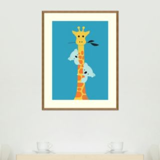 Amanti Art I'll Be Your Tree Giraffe & Koala Framed Wall Art