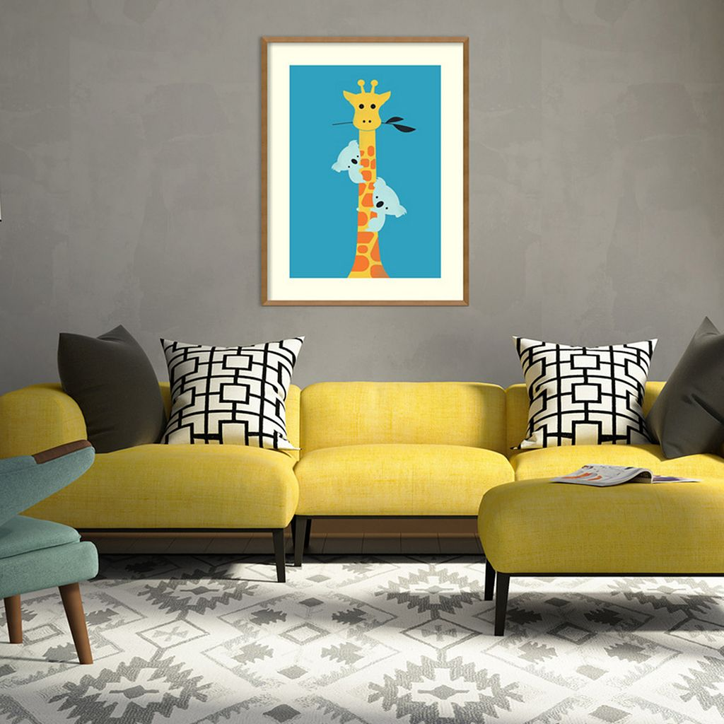Amanti Art I'll Be Your Tree Giraffe & Koala Framed Wall Art