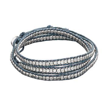 Mudd® Blue Braided Wrap Bracelet