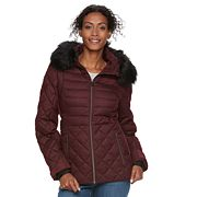 Women's ZeroXposur Sabrina Faux-Fur Trim Quilted Jacket