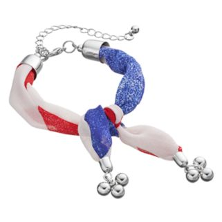 Mudd® Red, White & Blue Knotted Fabric Bracelet