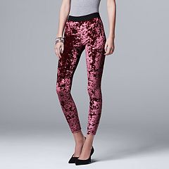 Women's Simply Vera Vera Wang Crushed Velvet Leggings