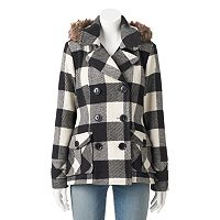 Juniors' Urban Republic Wool Blend Peacoat
