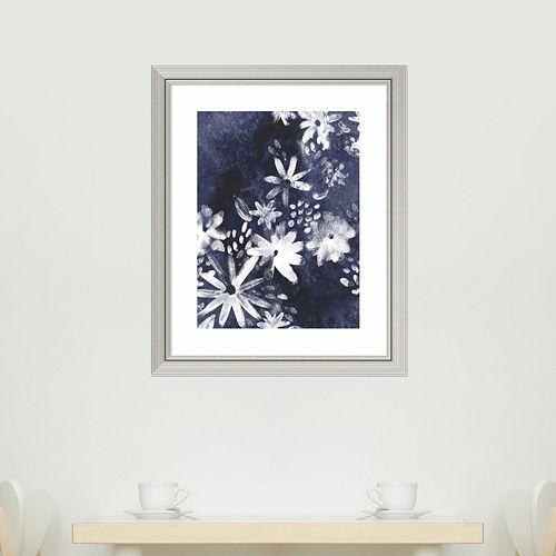 Amanti Art Indigo Floral Gesture I Framed Wall Art