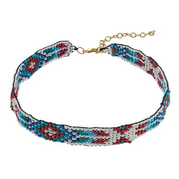Mudd® Southwest Seed Bead Choker Necklace