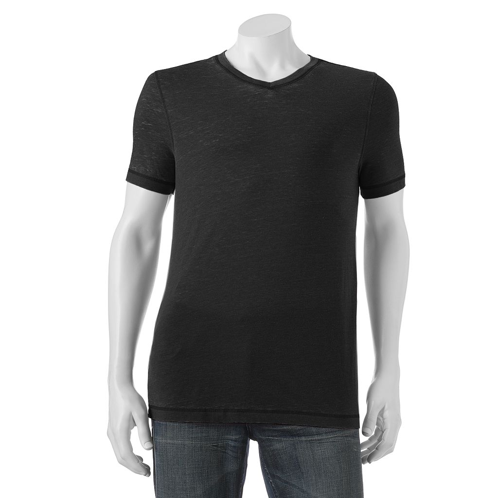 Big & Tall Helix Burnout V-Neck Tee