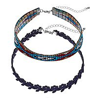 Mudd® Southwest & Flower Choker Necklace Set