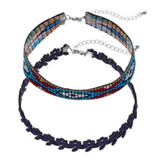 Mudd® Southwest & Flower Choker Necklace Set