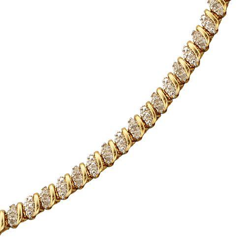 18k Gold-Over-Sterling Silver 1/2-ct. T.W. Diamond Bracelet