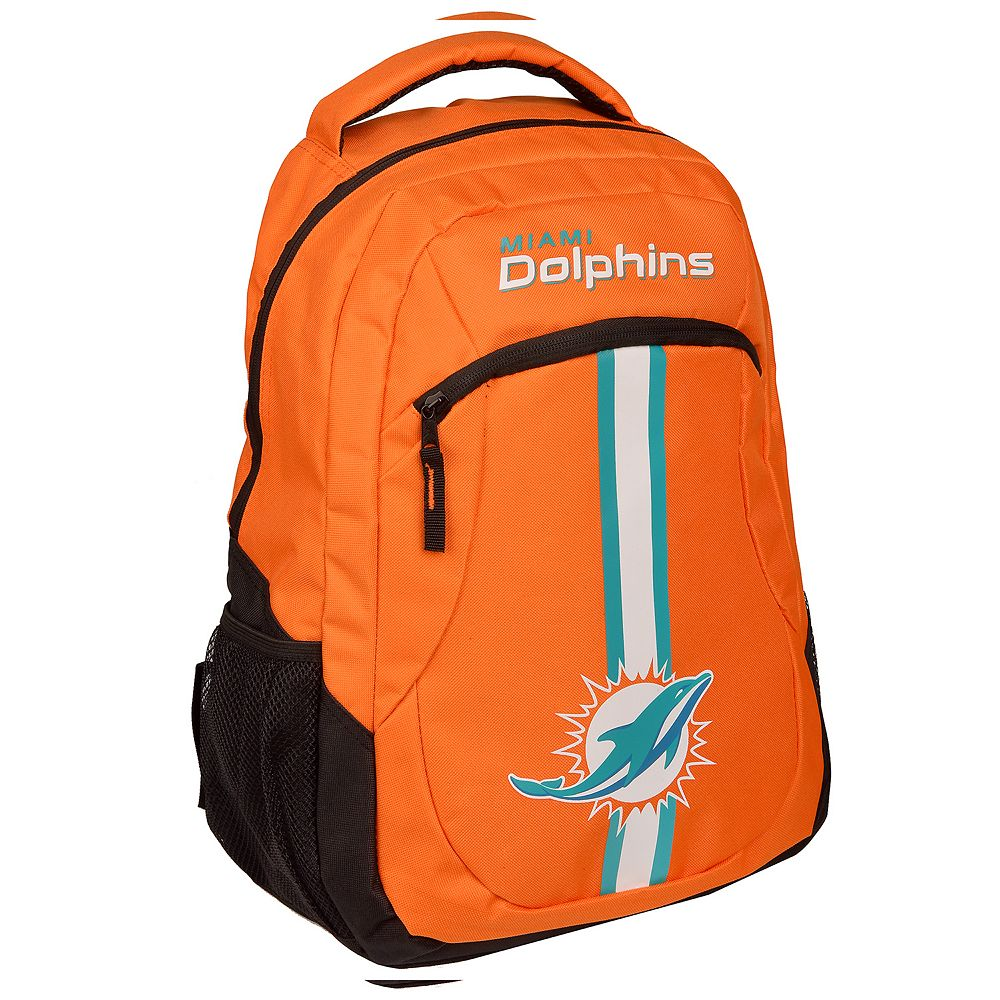 Forever Collectibles Miami Dolphins Action Stripe Backpack