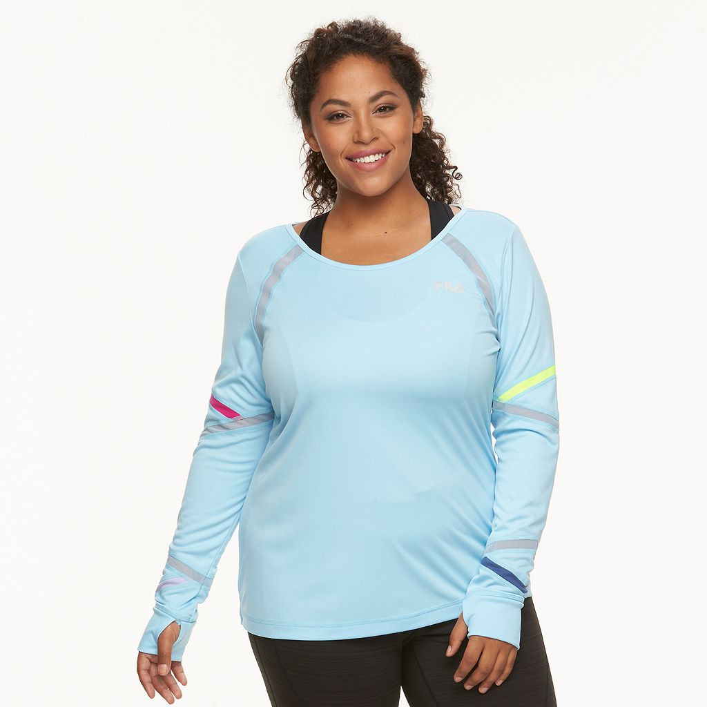 Plus Size FILA SPORT® Multi Fierce Semi-Fitted Scoopneck Tee