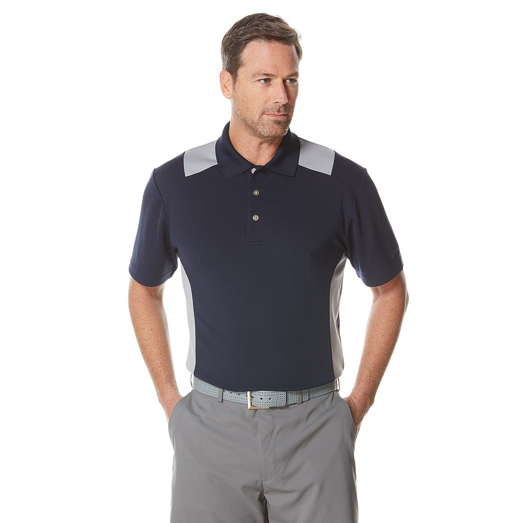 Big & Tall Grand Slam Classic-Fit Colorblock Airflow Golf Polo