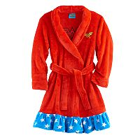 Girls DC Comics Wonder Woman Plush Robe