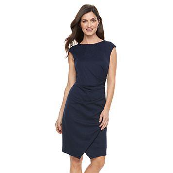Women's Suite 7 Asymmetrical Faux-Wrap Dress