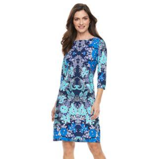 Women's Suite 7 Floral Scroll Shift Dress